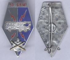 Insigne Du 53e Groupement De Réparation Du Matériel - Armée De Terre