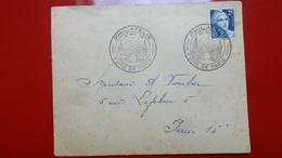 Foire De Paris Affr  25fr Marianne De Gandon 23mai 1949 - FDC