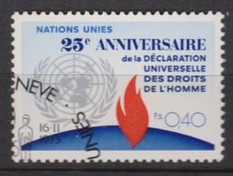 NATIONS UNIES (Genève) 1973:  25ème Anniversaire De La Déclaration Universelle,  Oblitéré - Ungebraucht