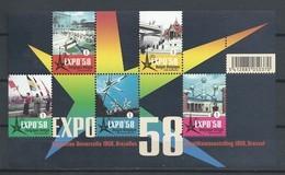 Blok 158 Expo 58 POSTFRIS** 2008 - Blocks & Kleinbögen 1962-....