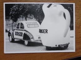 Auto, Voiture, Car / Citroën 2CV Pub Berger, Tour De France 1961 --> Onbeschreven - Toerisme