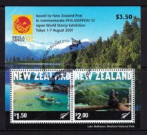 New Zealand 2001 PHILANIPPON '01 Tourism Minisheet Used - See Notes - New Zealand