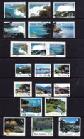 New Zealand 2002 Scenic Coastlines, 2003 Scenic Definitives & Waterways Sets Used - New Zealand