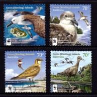 Cocos Islands 2015 Visiting Birds Set Of 4 Used - Cocos (Keeling) Islands