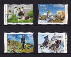 Australian Antarctic 2015 The Dogs That Saved Macquarie Island Set Of 4 Used - Australian Antarctic Territory (AAT)