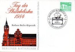 "(DDR-B2) DDR Sonderkarte ""Tag Der Philatelisten 1984"", EF Mi 2484, SSt. 21.10.1984 BERLIN-KÖPENICK - [6] République Démocratique"