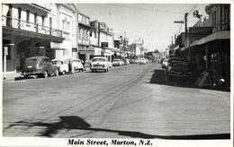 New Zealand, MARTON, Main Street, Cars (1950s) RPPC - New Zealand