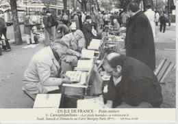 19 / 2 / 118. -  PARIS   - PETITS  MÉTIERS. - CARTOPHITATÉLISTES. AU. CARRÉ. MARIGNY -  C. P. M. - Petits Métiers à Paris