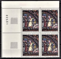 FRANCE 1963 - BLOC DE 4 TP / Y.T. N° 1399 - NEUFS** COIN DE FEUILLE - France