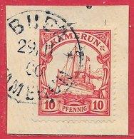 Cameroun Allemand N°9 Ou 21 10p Rouge 1900-14 (BUEA 29 11 06) O - Kolonie: Kamerun