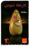 """Phonecard Télécarte Orange Tunisia Tunisie - """" Batata """" Telefonkarte Telefonica - Tunisia"""