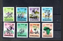 RWANDA MICHEL 914/921** NON DENTELE SUR LE SCOUTISME - Rwanda