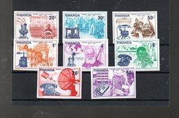RWANDA MICHEL 807/814** NON DENTELE SUR LE CENTENAIRE DE LA 1ERE LIAISON TELEPHONIQUE - Rwanda