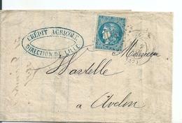 Lettre Crédit Agricole  Avec Type Bordeaux N°46A, 1871 - 1870 Emissione Di Bordeaux