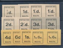 Malta SG D 1-D 10 Pair Mint N.H. - Malta (...-1964)