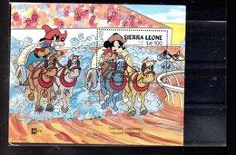 SIERRA LEONE BLOC 59** SUR L EXPO CAPEX 87 AVEC PERSONNAGES DE DISNEY - Sierra Leone (1961-...)