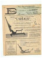 """BOTTELEUSE LEVIER ET CHEVILLE AUTOMATIQUE  """""""" L'IDEALE """"""""  J. ALDEBERT à FRESNES SUR ESCAUT (NORD) - Publicités"""