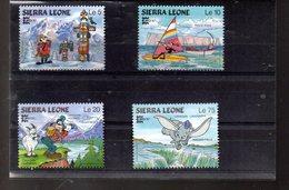 SIERRA LEONE 786/789** SUR L EXPO CAPEX 87 AVEC PERSONNAGES DE DISNEY - Sierra Leone (1961-...)