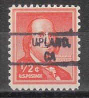 USA Precancel Vorausentwertung Preo, Locals California, Upland 828 - Vereinigte Staaten