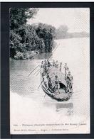 INDOCHINA Laos Pirogue Chargée Remontant Le Mé Kong Ca 1910 OLD POSTCARD - Laos