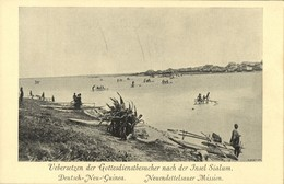 German New Guinea, Transport Of Believers To Island Of Sialum (1910s) Mission - Papua New Guinea