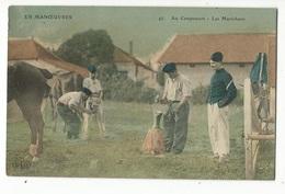 CPA, Th. Militaria , N°47, En Manoeuvres, Au Campement - Les Maréchaux , Ed. E.L.D. - Manoeuvres