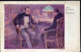 42315 Italia, Stationery Card 5c. Circuled 1913 Posta Militare Da Rodi A Perugia/spoleto,1858 Convegno Di Plombieres, - Entero Postal