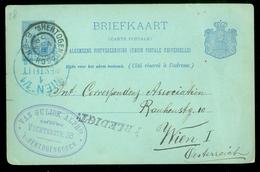 BRIEFKAART Gelopen In 1898 Van 's-HERTOGENBOSCH Naar WIEN ÖSTERREICH  (11.508m) - Postal Stationery