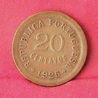 PORTUGAL 20 CENTAVOS 1925 -    KM# 574 - (Nº27597) - Portugal
