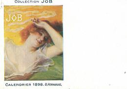 Calendrier (14 X 9 Cm) Collection JOB / 1898 / D. HERNANDEZ - Calendriers