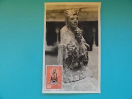 CARTE MAXIMUM CARD VIERGE D'ORDINO ANDORRE EUROPA - Sculpture
