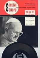 RARE BIMESTRIEL N° 2 SPECIAL SONORE-MARS / AVRIL 1964-PAUL VI EN TERRE SAINTE. DISQUE SOUPLE 33T. ET DE GAULLE-EXC ETAT - Formats Spéciaux