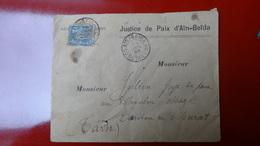 Ain Beida Constantine Affr 15c Bleu Sur Enveloppe Pour Cabannes Barres Tarn (cachet Pointille )1898 - 1877-1920: Période Semi Moderne