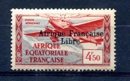"""AEF Surcharge """"Afrique Française Libre"""" Noire Yvert PA 17 Neuf Xxx - T 786 - Neufs"""