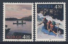 Norway Norge Norwegen 1993 Mi 1123 /4 SG 1160 /1 ** Kayak On Lake + White-water Rafting/ Kajakfahrt + Wildwasser-Rafting - Vakantie & Toerisme