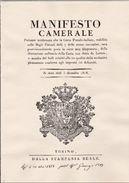 1969 Italia Torino RISTAMPA MANIFESTO CAMERALE DELLE POSTE SARDE 1818 - Decreti & Leggi