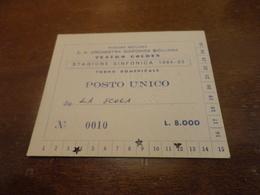 BIGLIETTO INGRESSO STAGIONE SINFONICA SICILIANA TEATREO GOLDEN 1984-1985 - Biglietti D'ingresso