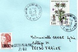 71 - CHALON SUR SAÔNE  ANNEXE MOBILE 29-6-1983  - Ouvert Le 1er Août 1967 - Fermeture 1.8.1986 - France