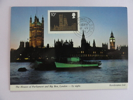 CARTE MAXIMUM CARD HOUSES OF PARLIAMENT AND BIG BEN LONDON GRANDE-BRETAGNE - Architecture
