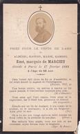 Priez Pour Albéric Gaston Marie Gabriel Emé, Marquis De Marcieu + 17 Février 1988 - Noble Noblesse - Obituary Notices