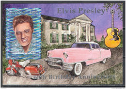 M3199 Art Music Cinema Cars Elvis Presley Hologram 1994 Guyana S/s MNH ** Imperf Imp 30ME - Elvis Presley
