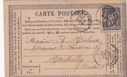 FRANCE 1878  ENTIER POSTAL/GANZSACHE/POSTAL STATIONERY CARTE PRECURSEUR DE GERARDMER - Entiers Postaux