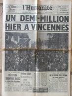 Journal L'Humanité (11 Sept 1967) Fête De L'Huma - Juliette Gréco Et Guy Béart - 1950 - Today