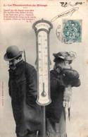 Fantaisie - Le Thermométre Du Ménage - Série Complète De 5 C.P.A. - Bergeret - Couples