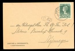 BRIEFKAART GESCHREVEN Gelopen In 1924 Van 's-HERTOGENBOSCH Naar NIJMEGEN  (11.508t) - Postal Stationery