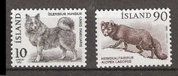 Iceland 1980 Icelandic Dog (Canis Familiaris). Arctic Fox (Alopex Lagopus)  Mi 550-551, MNH(**) - Neufs