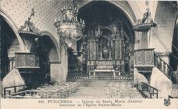 PUIGCERDA - N° 448 - IGLESIA DE SANTA MARIA (INTIROR)  (C P DE CARNET) - Gerona