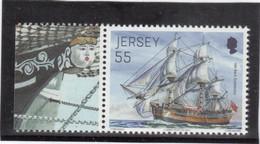"""VV5 - JERSEY 1837 ** MNH De 2013 Avec Vignette - H.M.BARK."""" ENDEAVOUR"""" De Captain COOK. - Jersey"""
