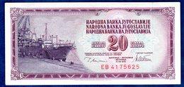 JUGOSLAVIA   20   DINARI   1978  CIRCOLATO - Yougoslavie