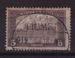 Fiume 1918, Minr 24, Used. Cv 40 Euro - 8. Occupazione 1a Guerra
